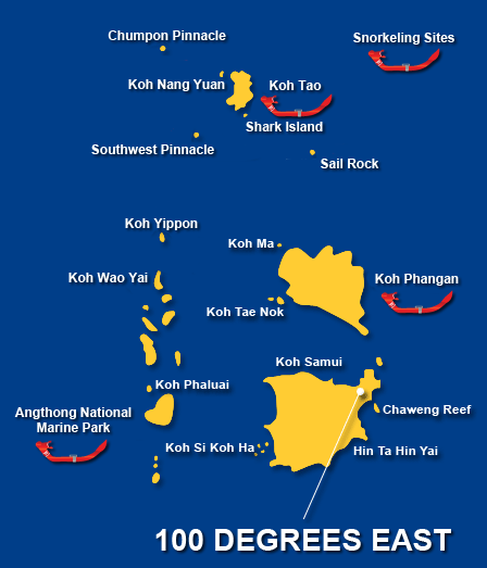 Snorkeing Sites Map
